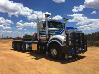 Big Mack Titan 297t Tri Drive, off to work.